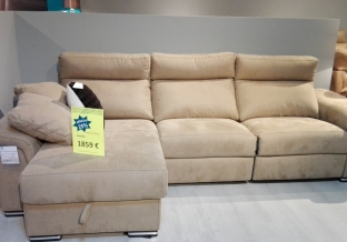 SOFA 3 PLAZAS RELAX + CHAISELONGE ARCON